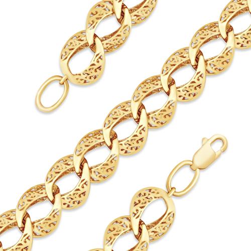 Объёмный браслет с узорами из золота