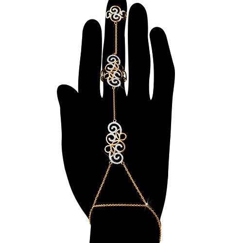 Слейв-браслет с двумя кольцами