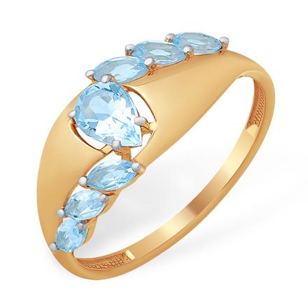 Широкое кольцо с топазами