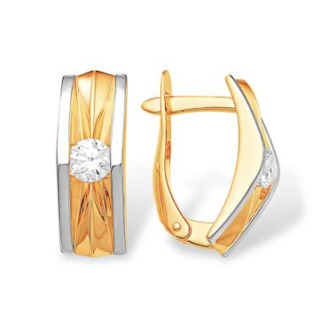 Золотые серьги прямоугольной формы