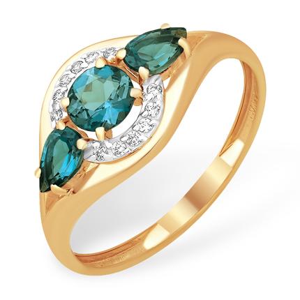 Кольцо из золота с лондон топазами