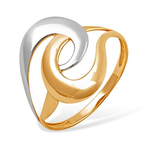 Кольцо из красного и белого золота