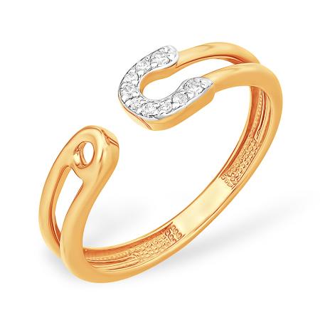 Золотое кольцо-булавка