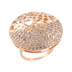 Кольцо из золота с множеством фианитов