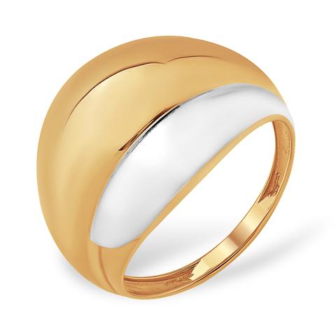 Широкое легкое золотое кольцо