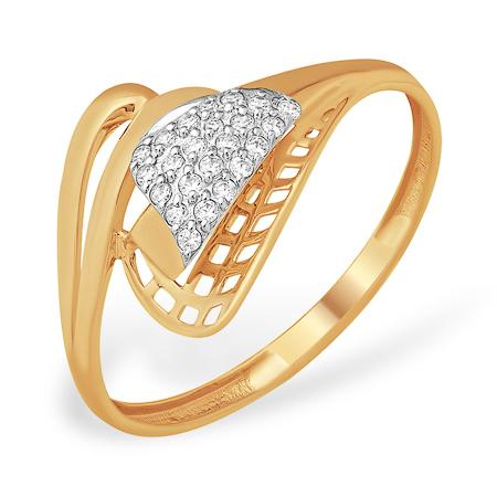 Золотое кольцо интересного дизайна