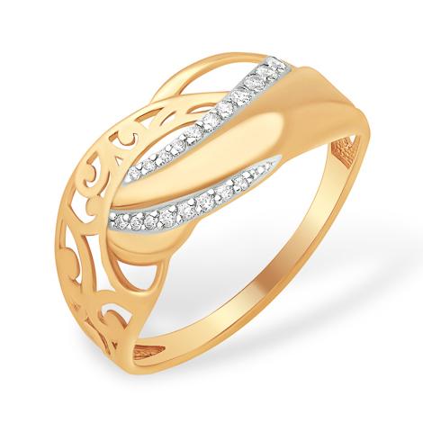 Кольцо с узорами из золота
