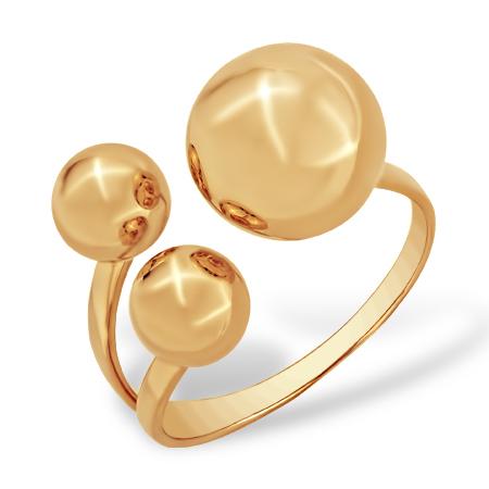 Кольцо в стиле Диор с тремя шарами