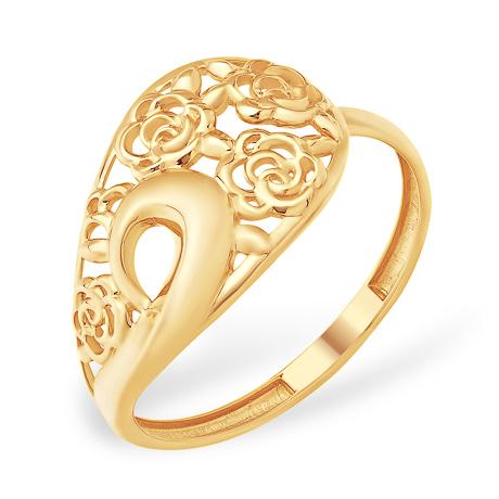 Кольцо из золота с узорами в виде роз