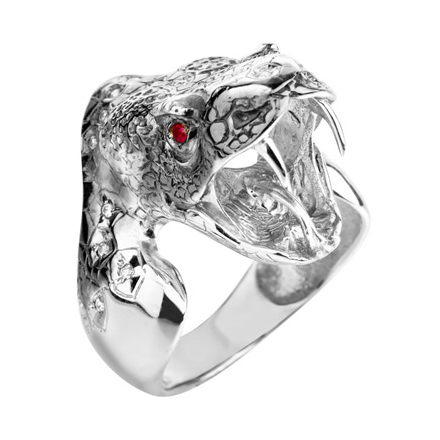 """Мужское кольцо """"Змея"""" из серебра"""