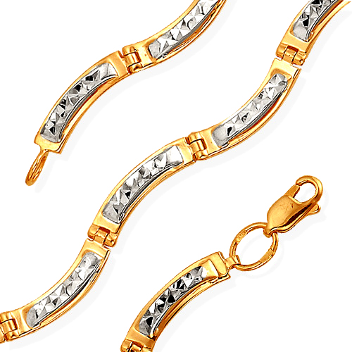 Браслет из клмбинированного золота с алмазной гранью