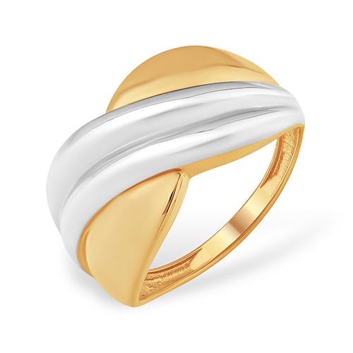 Объемное легкое кольцо из золота