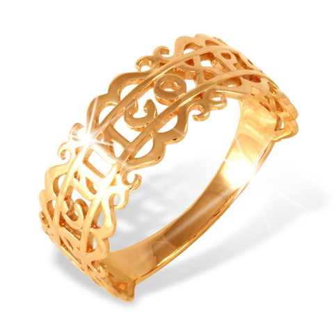 """Кольцо """"спаси и сохрани"""" из золота"""