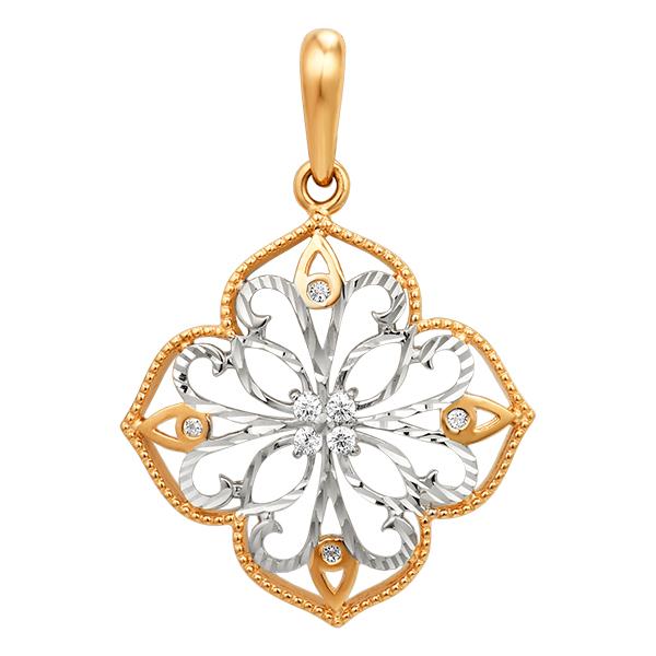 Золотая подвеска с алмазной гранью