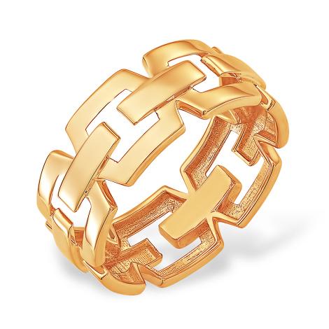Кольцо из золота в виде цепи
