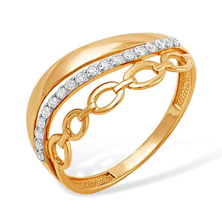 Молодёжное кольцо из золота с фианитами