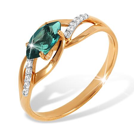 Лёгкое золоте кольцо с лондон топазом
