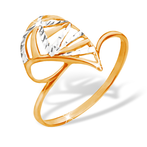 Кольцо из золота с алмазной обработкой