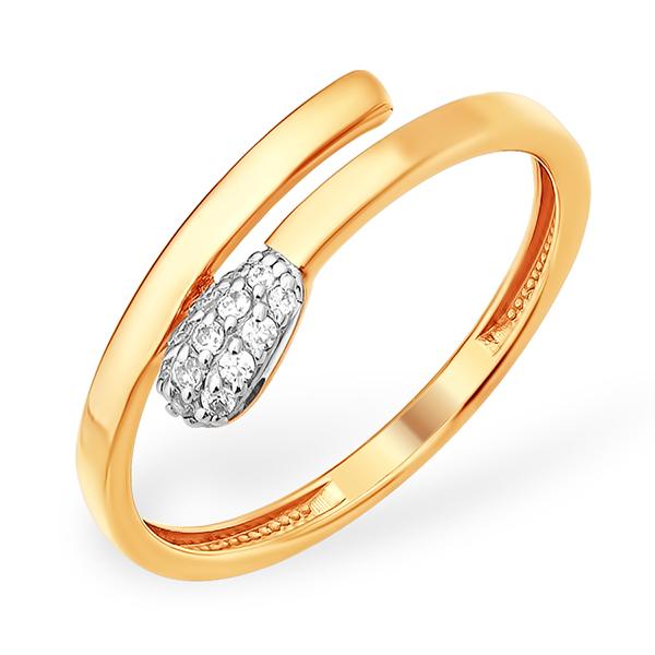 """Золотое кольцо """"спичка"""""""