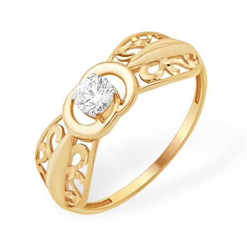 bfb531add7c3 Купить кольцо с алмазной гранью и фианитом, модель 8100229333
