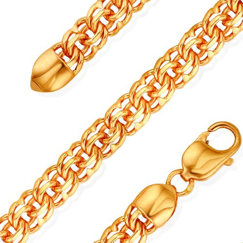 Плетение бисмарк золотой цепочки