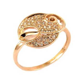 Кольцо из золота с фианитами