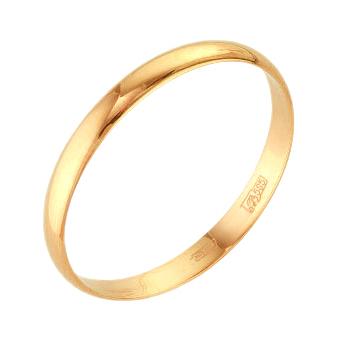 Обручальное кольцо из красного золота бухтированное