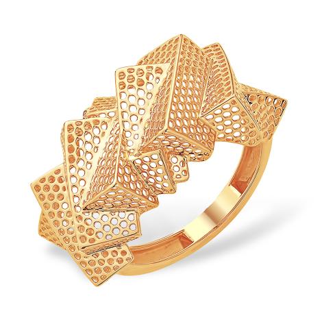 Объёмное кольцо из золота
