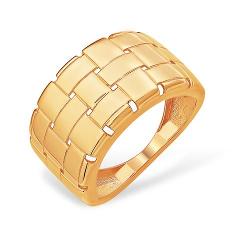 Широкое и объёмное золотое кольцо