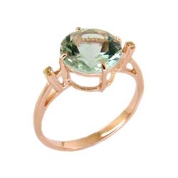 Кольцо из золота с празиолитом
