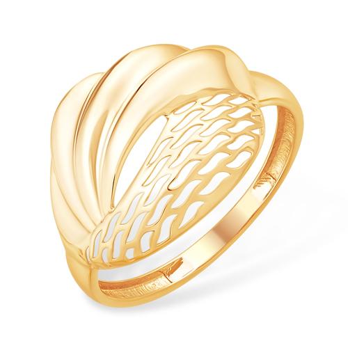 Объёмное ажурное кольцо из золота