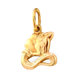 """Подвеска знак зодиака """"водолей"""" из золота"""