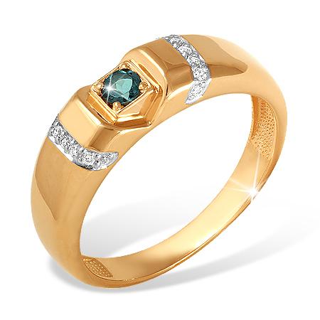 Мужское кольцо с лондон топазами и фианитами