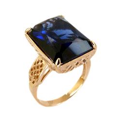 Кольцо из золота с синей шпинелью