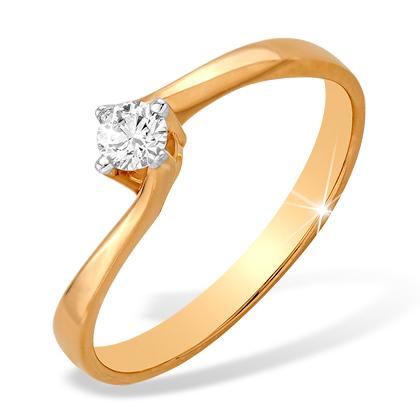 Золотое кольцо для помолвки с бриллиантом