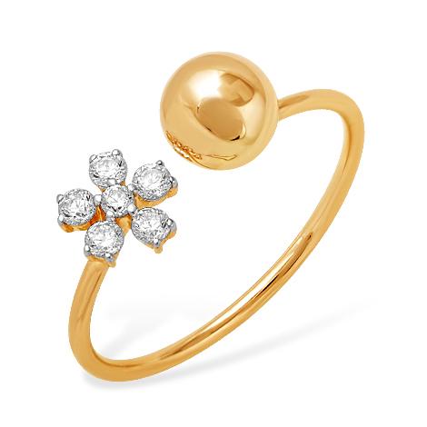 """Кольцо """"Диор"""" из золота с фианитами"""