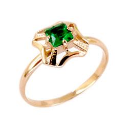 Кольцо из золота со шпинелью