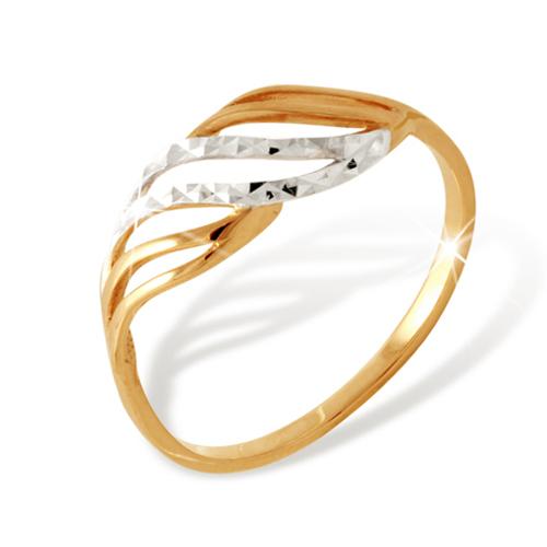 Классическое кольцо из золота с алмазной гранью