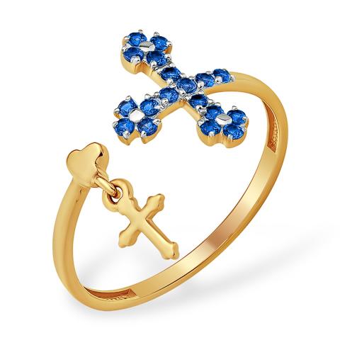 Золотое кольцо с крестиками
