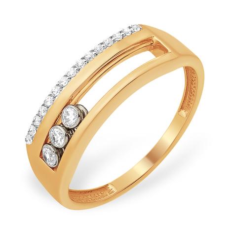 Кольцо из золота с передвигающимися фианитами