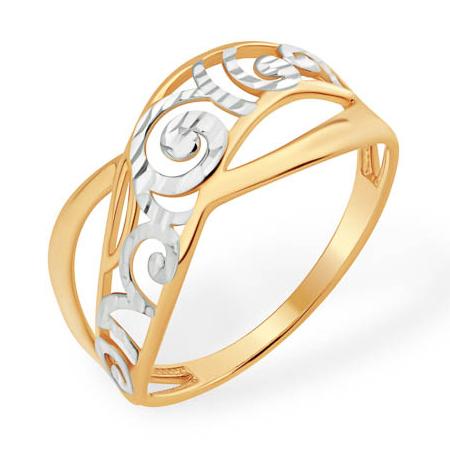 Кольцо из золота с алмазным узором