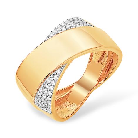 Стильное широкое кольцо из золота