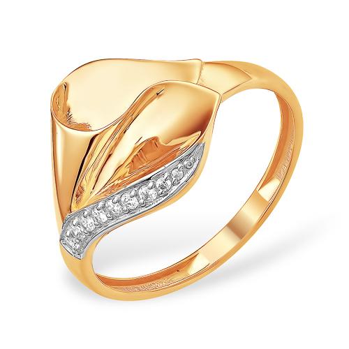 Золотое кольцо волнообразной формы