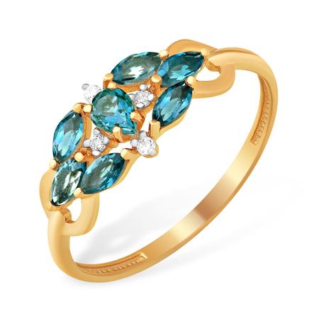 Лёгкое кольцо с лондон топазами