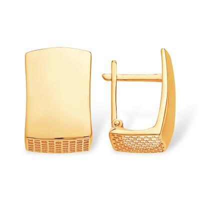 Серьги из золота необычной формы