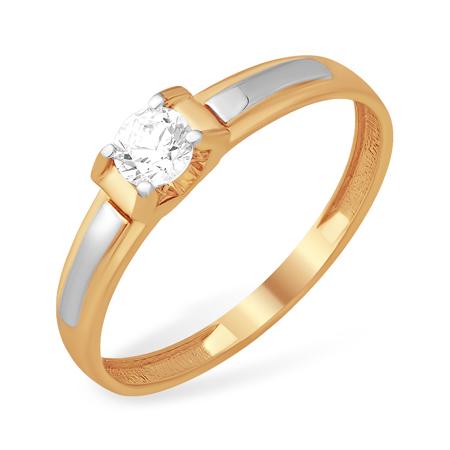 Лёгкое кольцо с кристаллом Сваровски