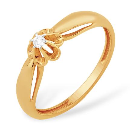 Кольцо из золота на помолвку с бриллиантом