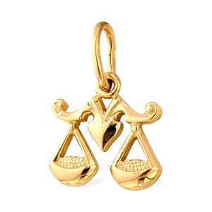 """Подвеска знак зодиака """"весы"""" из золота"""