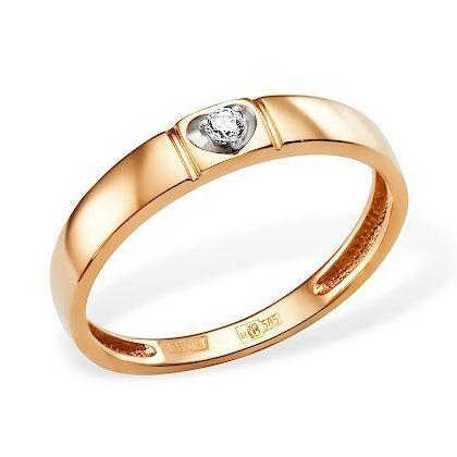 """Классическое золотое кольцо """"сердце"""""""