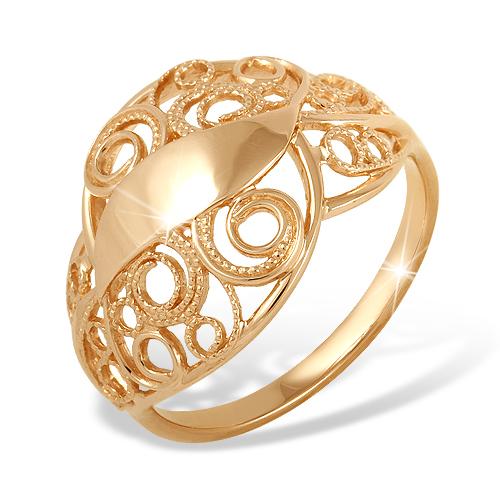 Золотое кольцо с филигранью